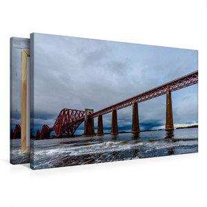 Premium Textil-Leinwand 75 cm x 50 cm quer Forth Bridge