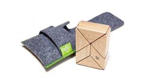 Magnetisches Holzprisma Natur, 6-teilig Beutel