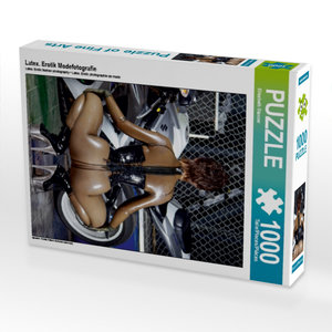 Latex. Erotik Modefotografie 1000 Teile Puzzle hoch