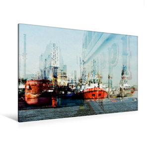 Premium Textil-Leinwand 120 cm x 80 cm quer Hafenimpressionen