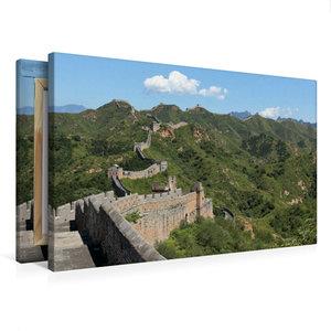 Premium Textil-Leinwand 75 cm x 50 cm quer Die Große Mauer bei J