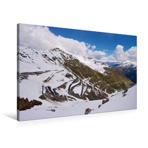Premium Textil-Leinwand 90 cm x 60 cm quer Stilfser Joch