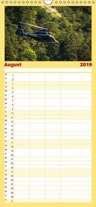 Hubschrauber im Einsatz - Familienplaner hoch (Wandkalender 2019