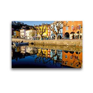 Premium Textil-Leinwand 45 cm x 30 cm quer Uferpromenade in Asco