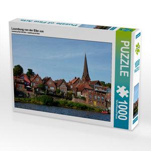 Lauenburg von der Elbe aus 1000 Teile Puzzle quer