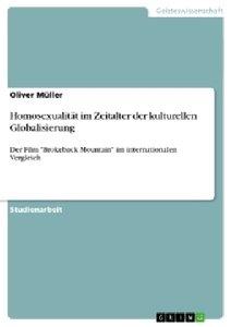 Homosexualität im Zeitalter der kulturellen Globalisierung