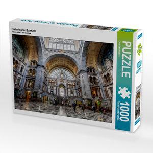 CALVENDO Puzzle Historischer Bahnhof 1000 Teile Lege-Größe 64 x