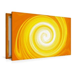 Premium Textil-Leinwand 120 cm x 80 cm quer Sonnenspiralen