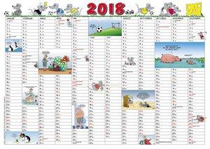 Kalenderkarte 2018