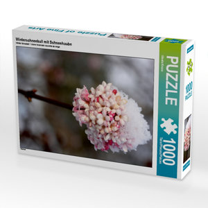 Winterschneeball mit Schneehaube 1000 Teile Puzzle hoch