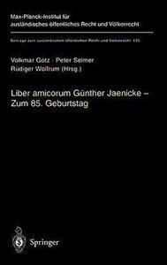 Liber amicorum Günther Jaenicke - Zum 85. Geburtstag