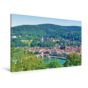Premium Textil-Leinwand 120 cm x 80 cm quer Heidelberger Altstad