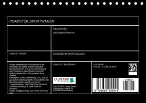 Roadster Sportwagen (Tischkalender 2019 DIN A5 quer)