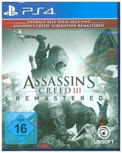 Assassin\'s Creed 3, Remastered, 1 PS4-Blu-ray Disc