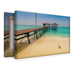 Premium Textil-Leinwand 45 cm x 30 cm quer Mantanani Island - St