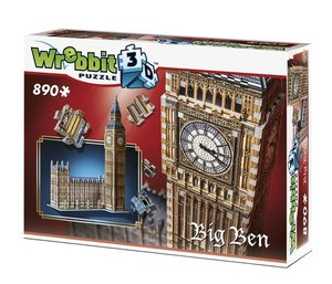 BIG BEN & HOUSE OF PARLIAMENT - QUEEN ELISABETH TOWER, 3D-PUZZLE