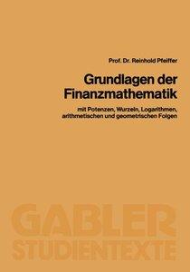 Grundlagen der Finanzmathematik