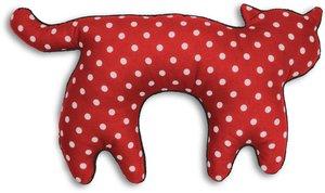 Nackenkissen Die Katze Feline. Fellfarbe: Polka dot rot / Mitter