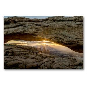 Premium Textil-Leinwand 90 cm x 60 cm quer Mesa Arch, Canyonland
