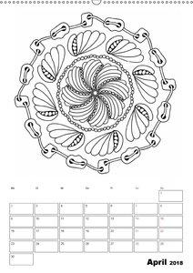 Ausmalkalender - Ungewöhnliche Mandalas