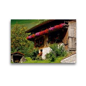 Premium Textil-Leinwand 45 cm x 30 cm quer Bauernhaus im Schnals