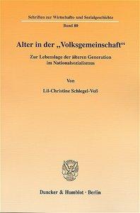 """Alter in der """"Volksgemeinschaft"""""""