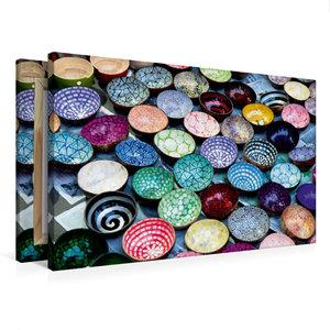 Premium Textil-Leinwand 75 cm x 50 cm quer Kokosnussschalen