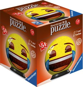 Ravensburger 119219 - Emoji Joy, 3D Puzzle, Ball