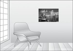 Premium Textil-Leinwand 75 cm x 50 cm quer Liebfrauenkirche