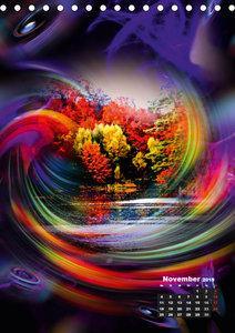 Blühende Fantasie - Digitalkunst (Tischkalender 2019 DIN A5 hoch