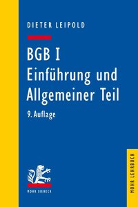 BGB I: Einführung und Allgemeiner Teil