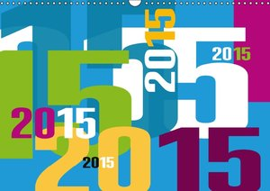 Calendrier typographique / 2015 (Calendrier mural 2015 DIN A3 ho