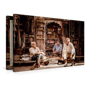 Premium Textil-Leinwand 90 cm x 60 cm quer Schirmflicker in Jodh