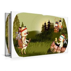 Premium Textil-Leinwand 90 cm x 60 cm quer Indianerschweinchen