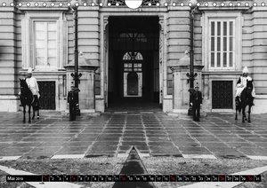 Madrid - Schwarz-Weiß Impressionen (Wandkalender 2019 DIN A4 que