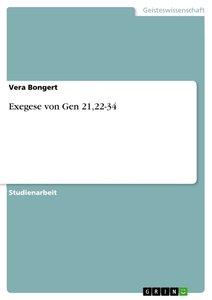 Exegese von Gen 21,22-34