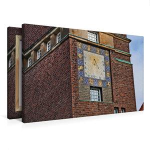 Premium Textil-Leinwand 75 cm x 50 cm quer Hochzeitsturm Mathild