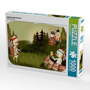 Indianerschweinchen 1000 Teile Puzzle quer