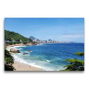 Premium Textil-Leinwand 75 cm x 50 cm quer Rio de Janeiro\'s Geh