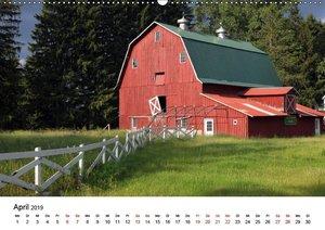 Red Barns - rote Scheunen (Wandkalender 2019 DIN A2 quer)