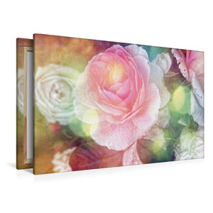 Premium Textil-Leinwand 120 cm x 80 cm quer Vintage Rose