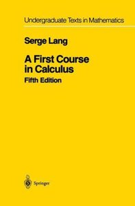 A First Course in Calculus