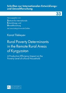 Rural Poverty Determinants in the Remote Rural Areas of Kyrgyzst
