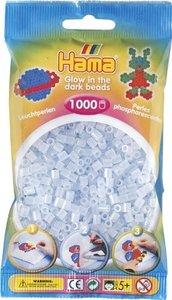 Hama 207-57 - Perlen leuchtfarben/blau, Leuchtperlen, 1000 Stück