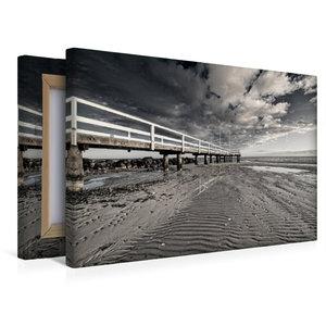 Premium Textil-Leinwand 45 cm x 30 cm quer Ebbe am Strand