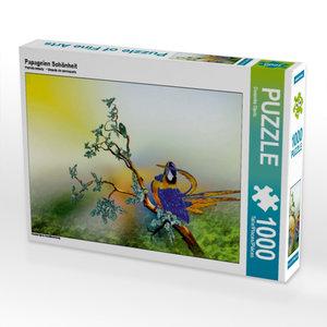 Papageien Schönheit 1000 Teile Puzzle quer