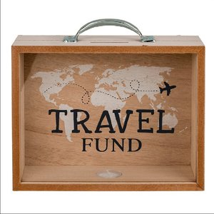 Spardose Holz Travel