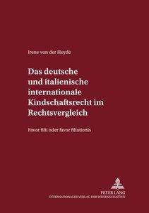 Das deutsche und italienische internationale Kindschaftsrecht im
