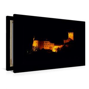 Premium Textil-Leinwand 90 cm x 60 cm quer Schloss Tirol bei Nac