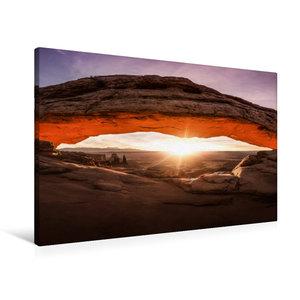 Premium Textil-Leinwand 90 cm x 60 cm quer mesa arch - canyonlan